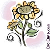 sunflowers Vector Clipart picture