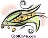 Vector Clipart picture  of a cob of corn