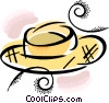 Vector Clip Art graphic  of a straw hat