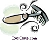 garden rake Vector Clip Art graphic