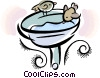 birdbath Vector Clipart illustration
