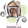Vector Clip Art graphic  of a birdhouse