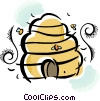 beehive Vector Clipart graphic