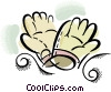 work gloves Vector Clip Art picture