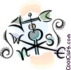 Vector Clip Art image  of a weathervane