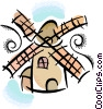 Vector Clip Art picture  of a windmill