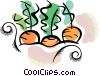 Vector Clip Art graphic  of a carrots