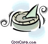 sundial Vector Clipart picture