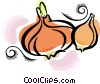 Vector Clipart graphic  of a onions