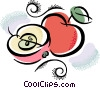 Vector Clip Art image  of an apple