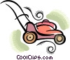 Vector Clip Art picture  of a lawnmower