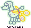 poodle getting a hair cut Vector Clipart image