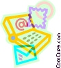 sending e-mail Vector Clip Art graphic