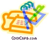 Vector Clip Art graphic  of a telephone message