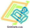 bulldog clip and paper Vector Clipart picture