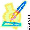 fountain pen Vector Clipart illustration
