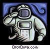 Astronaut in space suit Vector Clipart graphic