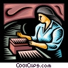 Vector Clip Art image  of an assembly line worker