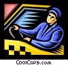 taxicab driver Vector Clipart picture