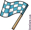 racing flag Vector Clip Art picture
