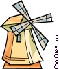 Vector Clipart graphic  of a windmill