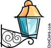 Vector Clip Art image  of a outside lamp
