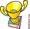 Vector Clipart graphic  of a Gold trophy