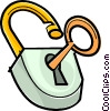 lock and key Vector Clipart graphic