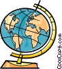globe Vector Clipart graphic