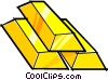 gold bars Vector Clipart image