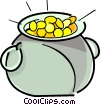 Vector Clipart graphic  of a pot of gold