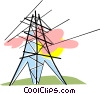 Vector Clipart picture  of a hydro tower