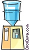 Vector Clip Art image  of a water cooler
