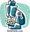 Vector Clipart graphic  of a microscope