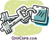 house keys Vector Clipart graphic