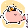 Vector Clip Art picture  of a piggy bank