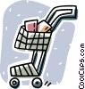 shopping cart Vector Clipart illustration