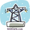 hydro tower Vector Clipart graphic