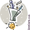 funneling environmental data Vector Clipart graphic
