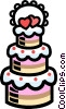 Wedding cakes Vector Clipart picture