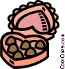 Vector Clipart image  of a valentines day candy