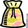 Vector Clipart graphic  of a bag of candy