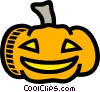 Vector Clip Art image  of a Halloween pumpkin