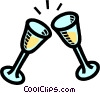 champagne glasses Vector Clipart graphic