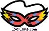 Vector Clip Art image  of a mardi gras mask