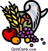 cornucopia of fruit Vector Clip Art graphic