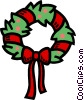 Vector Clipart graphic  of a Christmas wreath