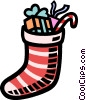 Vector Clipart graphic  of a Christmas stocking