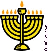 Vector Clip Art image  of a menorah