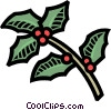 holly Vector Clipart graphic